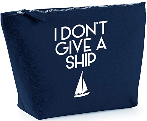 Hippowarehouse I Don't Give a Ship printed make up cosmetic wash bag 18x19x9cm from Hippowarehouse
