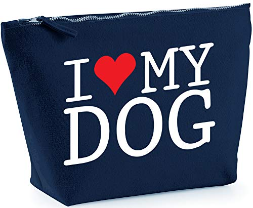 Hippowarehouse I Love My Dog printed make up cosmetic wash bag 18x19x9cm from Hippowarehouse