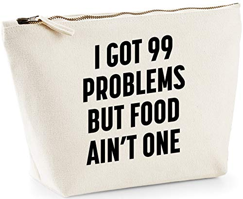 Hippowarehouse I got 99 problems but food ain't one printed make up cosmetic wash bag 18x19x9cm from Hippowarehouse
