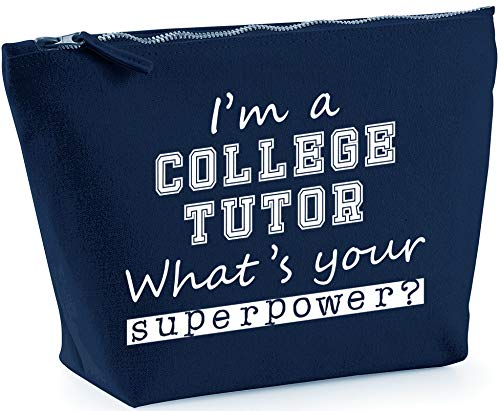 Hippowarehouse I'm a College Tutor what's your superpower? printed make up cosmetic wash bag 18x19x9cm from Hippowarehouse