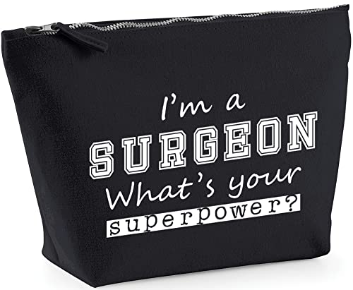 Hippowarehouse I'm a Surgeon What's Your Superpower? printed make up cosmetic wash bag 18x19x9cm from Hippowarehouse