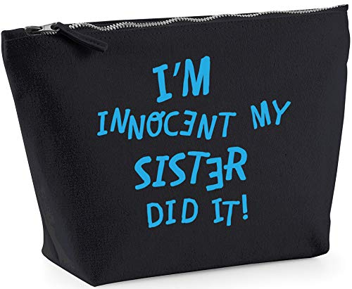 Hippowarehouse I'm innocent my sister did it printed make up cosmetic wash bag 18x19x9cm from Hippowarehouse