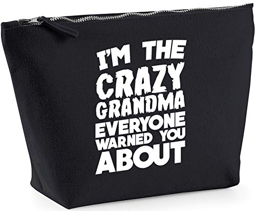 Hippowarehouse I'm the crazy grandma everyone warned you about printed make up cosmetic wash bag 18x19x9cm from Hippowarehouse