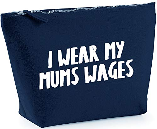 Hippowarehouse I wear my mums wages printed make up cosmetic wash bag 18x19x9cm from Hippowarehouse