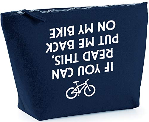 Hippowarehouse If You Can Read This, Put Me Back On My Bike printed make up cosmetic wash bag 18x19x9cm from Hippowarehouse