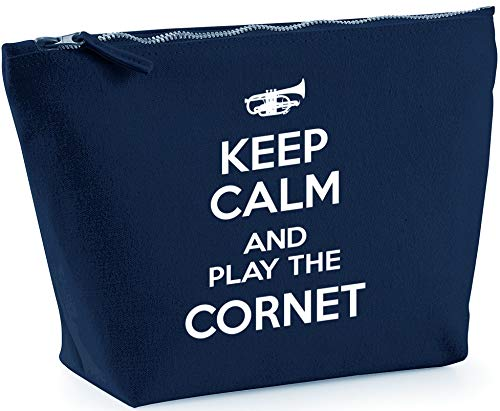 Hippowarehouse Keep Calm and Play the Cornet printed make up cosmetic wash bag 18x19x9cm from Hippowarehouse