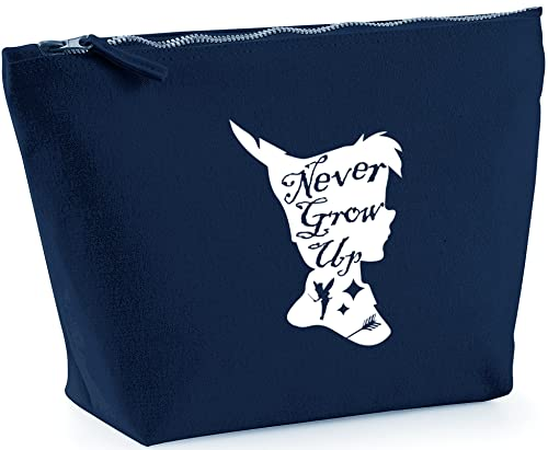 Hippowarehouse Never Grow Up Pan Silhouette printed make up cosmetic wash bag 18x19x9cm from Hippowarehouse