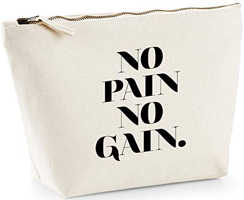 Hippowarehouse No Pain No Gain printed make up cosmetic wash bag 18x19x9cm from Hippowarehouse