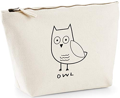 Hippowarehouse Owl printed make up cosmetic wash bag 18x19x9cm from Hippowarehouse