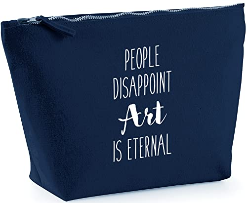 Hippowarehouse People Disappoint, Art is Eternal printed make up cosmetic wash bag 18x19x9cm from Hippowarehouse