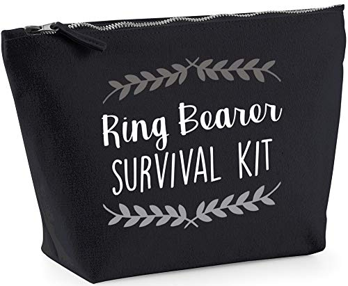 Hippowarehouse Ring bearer survival kit wreath printed make up cosmetic wash bag 18x19x9cm from Hippowarehouse