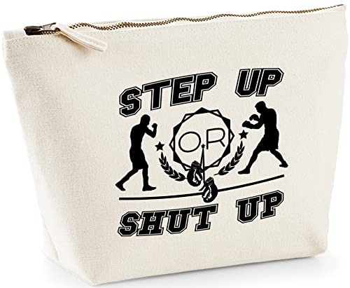 Hippowarehouse Step Up Or Shut Up printed make up cosmetic wash bag 18x19x9cm from Hippowarehouse