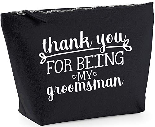 Hippowarehouse Thank you for being our groomsman printed make up cosmetic wash bag 18x19x9cm from Hippowarehouse