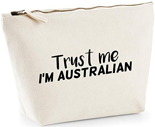 Hippowarehouse Trust me I'm Australian printed make up cosmetic wash bag 18x19x9cm from Hippowarehouse