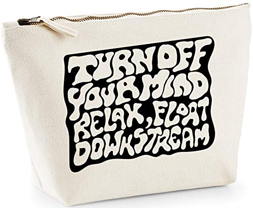Hippowarehouse Turn Off Your Mind Relax Float Downstream printed make up cosmetic wash bag 18x19x9cm from Hippowarehouse