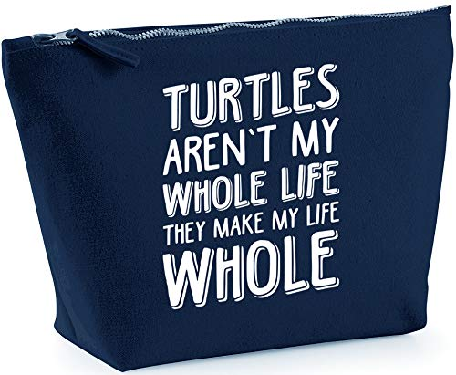 Hippowarehouse Turtles Aren't My Whole Life They Make My Life Whole printed make up cosmetic wash bag 18x19x9cm from Hippowarehouse