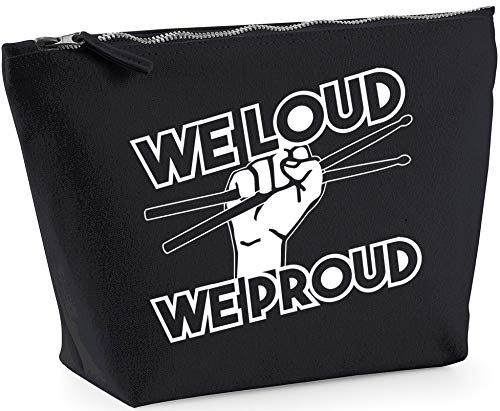 Hippowarehouse We loud we proud (PRINTED ON AN ANGLE) printed make up cosmetic wash bag 18x19x9cm from Hippowarehouse