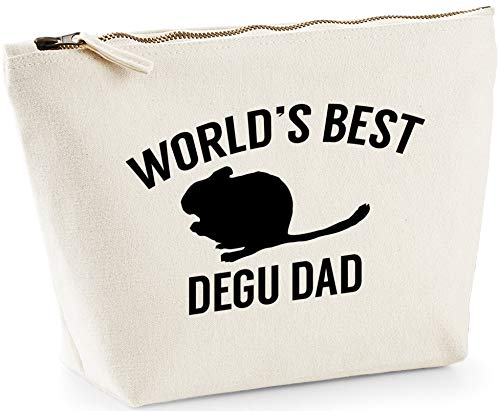 Hippowarehouse World's best degu dad printed make up cosmetic wash bag 18x19x9cm from Hippowarehouse