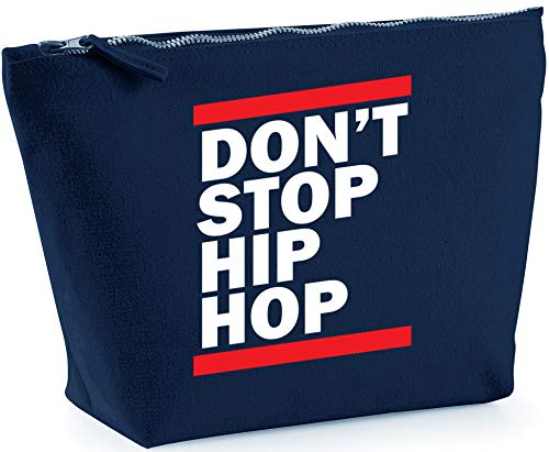 Hippowarehouse don't stop hip hop printed make up cosmetic wash bag 18x19x9cm from Hippowarehouse