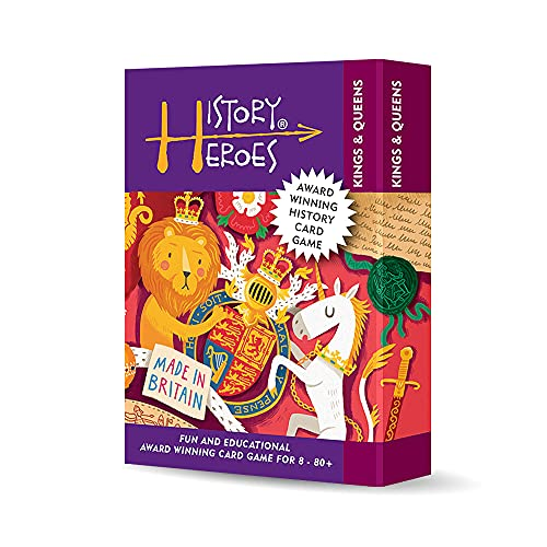 History Heroes: KINGS & QUEENS, a family card game about English & British Monarchs from Alfred the Great from History Heroes