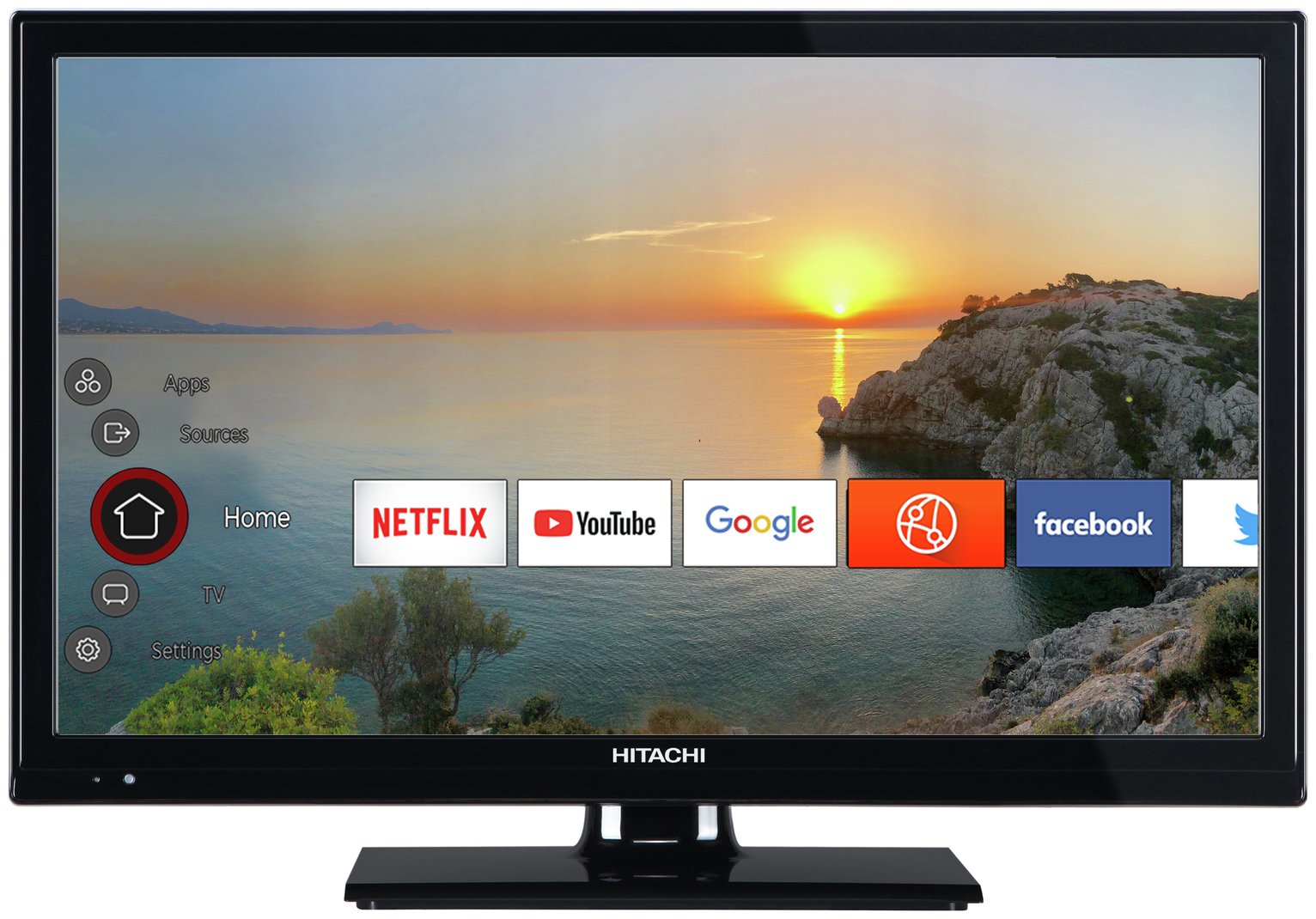 Hitachi 24 Inch Smart HD Ready TV / DVD Combi from Hitachi