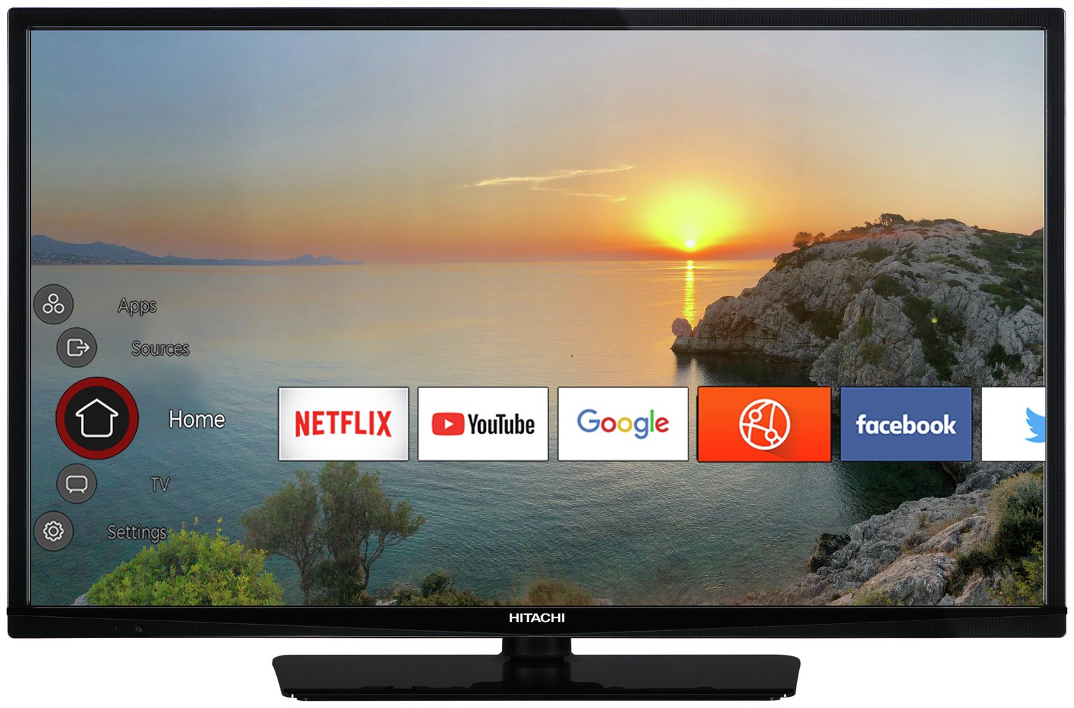 Hitachi 32 Inch Smart HD Ready TV / DVD Combi from Hitachi