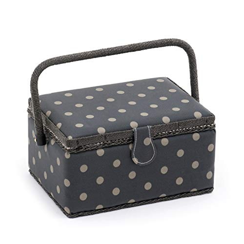 S Hobbygift Groves Exclusive: Sewing Box 24 x 16 x 11 cm : Rectangle: Scribble Diamond Cotton Blend Assorted