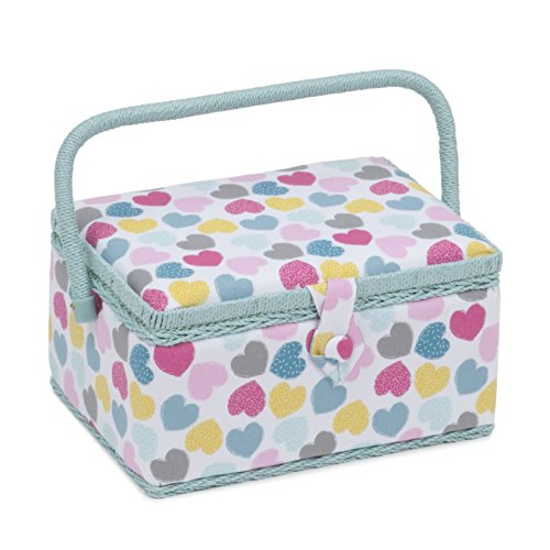 Sewing Basket Love Twin Lid Square Sewing Box MRLTLE\276