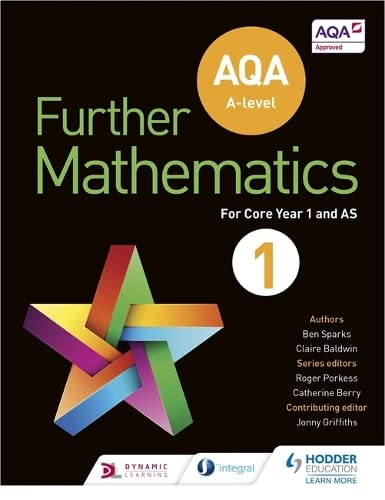 AQA A Level Further Mathematics Core Year 1 (AS) from Hodder Education