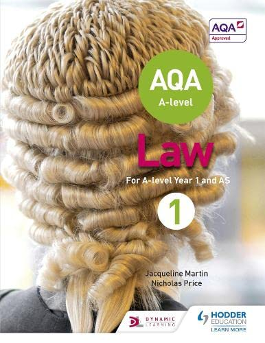 AQA A-level Law for Year 1/AS from Hodder Education