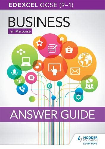 Edexcel GCSE (9-1) Business Answer Guide from Hodder Education