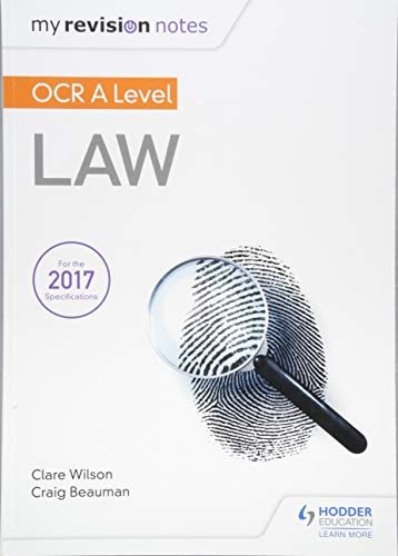 My Revision Notes: OCR A Level Law from Hodder Education