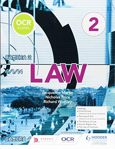 OCR A Level Law Book 2 from Hodder Education