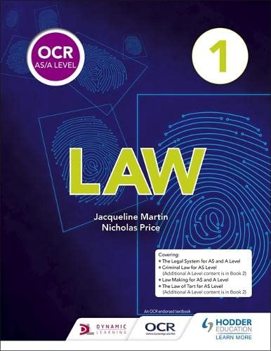 OCR AS/A Level Law Book 1 from Hodder Education