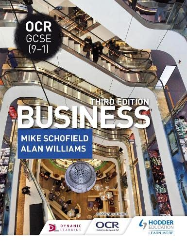 OCR GCSE (9-1) Business, Third Edition from Hodder Education