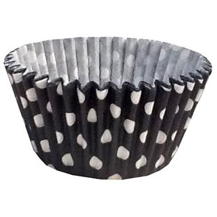 12 Excellent Quality Muffin / Cupcake Cases by Holly Cupcakes: Black Polka Dot from Holly Cupcakes
