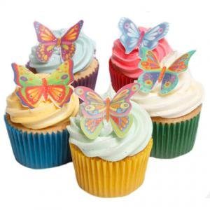 12 Stunning Butterflies- Beautiful Edible Cake Decorations from Holly Cupcakes