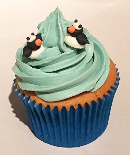 12 Sugar Mini Penguins- Beautiful Edible Cake Decorations from Holly Cupcakes