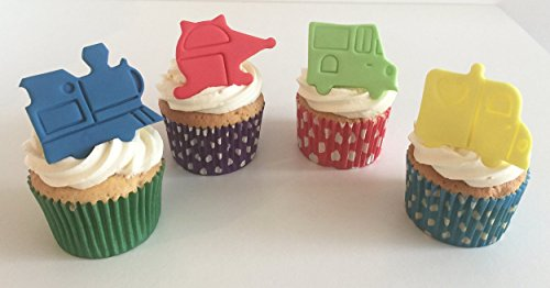 12 Vibrant Sugar Transport Themed Cake Decorations- Made with Love & Imagination in the UK! from Holly Cupcakes