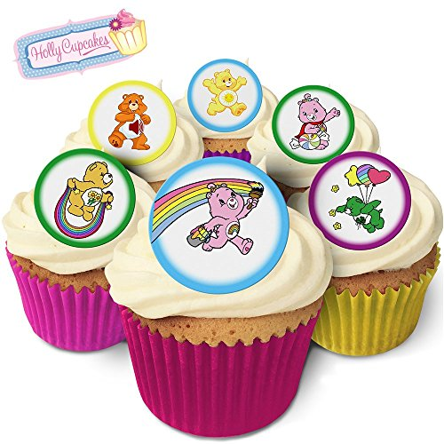 24 Edible round cake toppers: 24 designs inspired by 'Carebears' from Holly Cupcakes