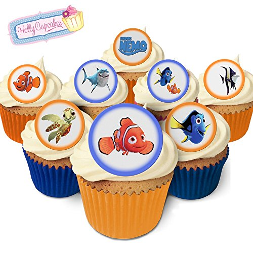 24 Fabulous Edible Pre-Cut Wafer Cake Toppers: Finding Nemo from Holly Cupcakes