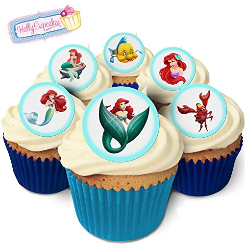 24 Fabulous Pre-Cut Edible Wafer Cake Toppers: The Little Mermaid from Holly Cupcakes