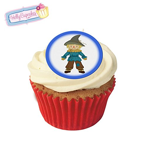 24 Fabulous Pre-Cut Edible Wafer Cake Toppers: Wizard of Oz Scarecrow from Holly Cupcakes