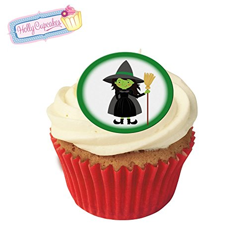 24 Fabulous Pre-Cut Edible Wafer Cake Toppers: Wizard of Oz Wicked Witch from Holly Cupcakes