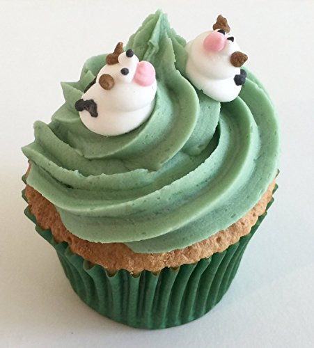 24 Sugar Mini Cows- Gorgeous, edible and handmade with love in the UK! from Holly Cupcakes