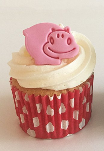 6 Cute Pink Sugar Hippos- Made with Love & Imagination in the UK! from Holly Cupcakes