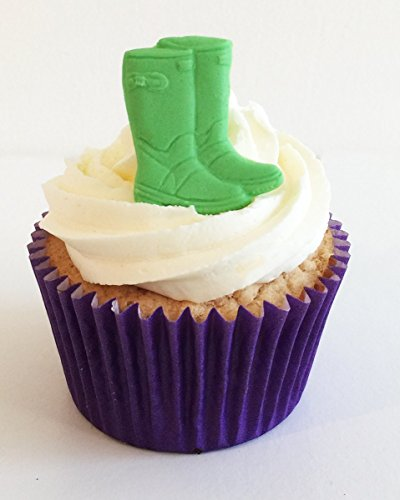 6 Fun & Vibrant Edible Sugar Wellies: Green from Holly Cupcakes