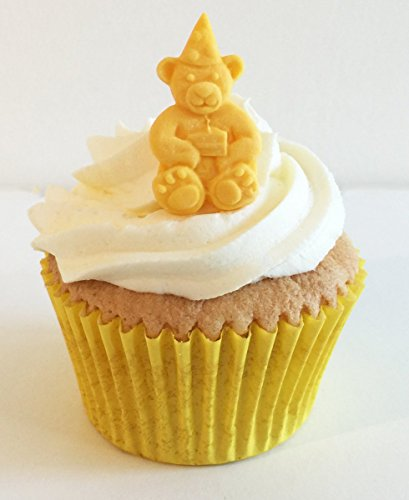 6 Gorgeous Yellow Sugar Bears- Handmade with love in the UK! from Holly Cupcakes