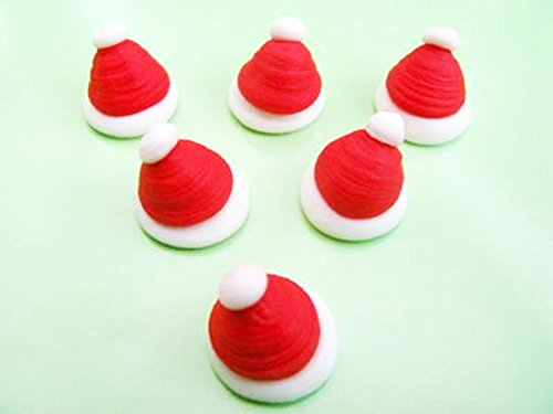 60 Sugar Mini Santa Hats- Gorgeous, edible and handmade with love in the UK! from Holly Cupcakes