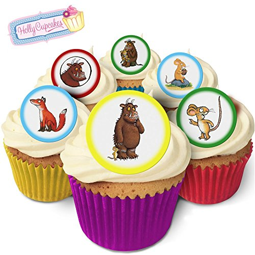 Holly Cupcakes 24 Fabulous Pre-Cut Edible Wafer Cake Toppers: The Gruffalo from Holly Cupcakes